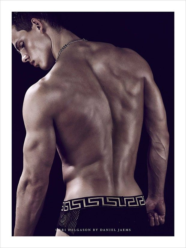 Orri Helgason in Versace by Daniel Jaems for Obsession No