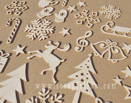chipboard, natúr díszítőelem kreatív albumkészítéshez
