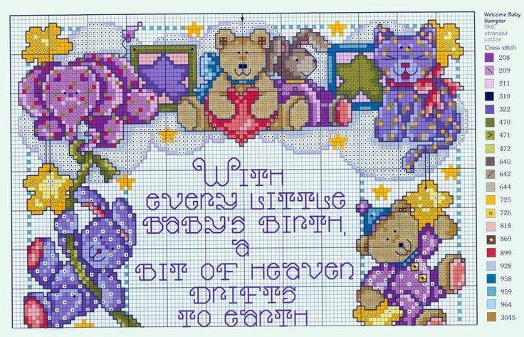 Schema punto croce Motivi-infantili-a1