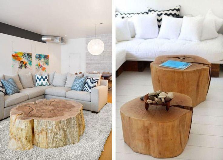 Ideali per arredare casa con uno stile rustico, caldo ed accogliente, i ceppi di legno possono facilmente trasformarsi in esclusivi oggetti di design.