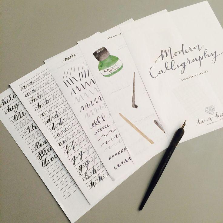 Modern calligraphy workbook brush lettering pinterest