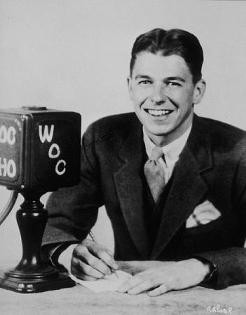 Ronald Reagan C.1932  was a WHO Radio Announcer in Des Moines, Iowa. Ca.  As part of his broadcasts, he would call Chicago Cubs and White Sox games.