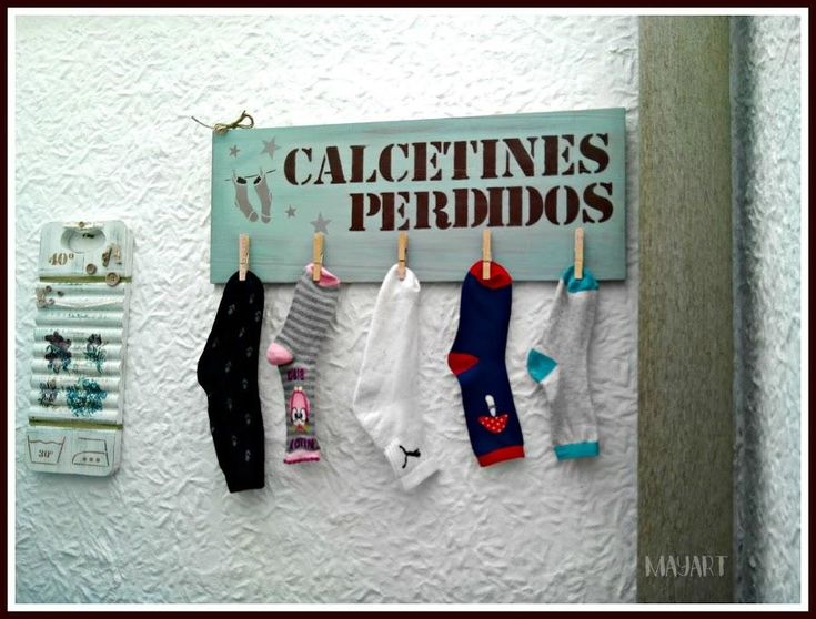 Un lugar para los calcetines perdidos. ¡Genial!