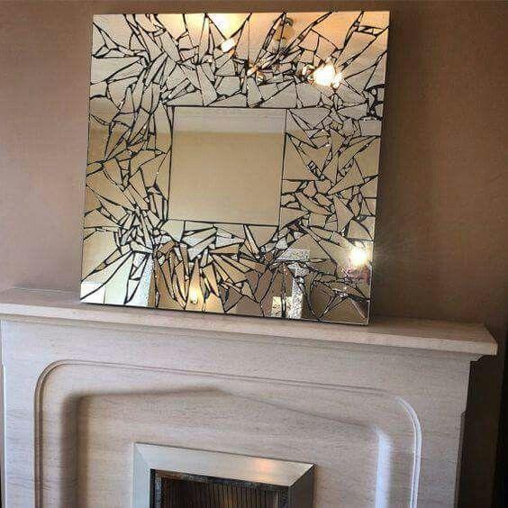 M s de 25 ideas incre bles sobre espejo roto en pinterest for Espejos para pegar