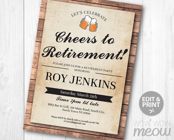 Best Retirement Party Invites Images On   Invites