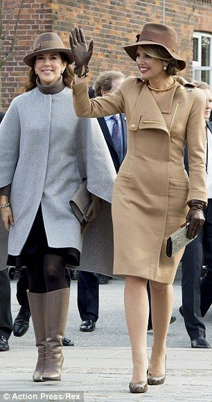 dailymail: Dutch State Visit to Denmark, Day 2, March 18, 2015-Crown Princess Mary and Queen Maxima on Samsø island