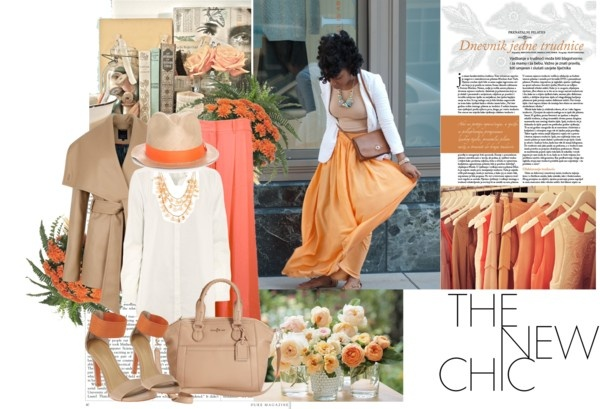 """Mama Set #2 (Orange Blossom)"" by posh-period ❤ liked on Polyvore"