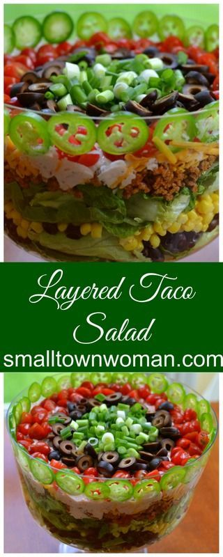The flavors in this delectable Layered Taco Salad meld together like a fine tuned instrument.  Rarely something so pretty tastes so darn good.