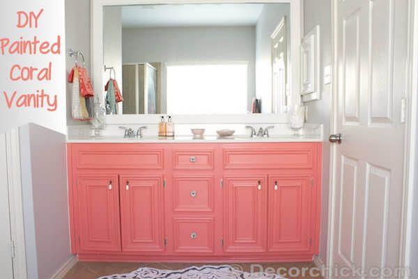 8 Inexpensive Ways To Upgrade Your Bathroom Painted Vanity Bathroom Painting Bathroom Easy Diy Paint