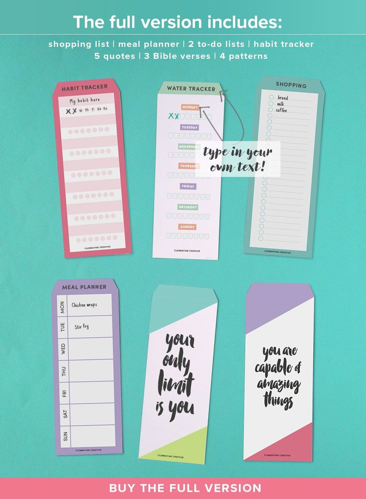 customized printable tab dividers for planners, diaries and agendas