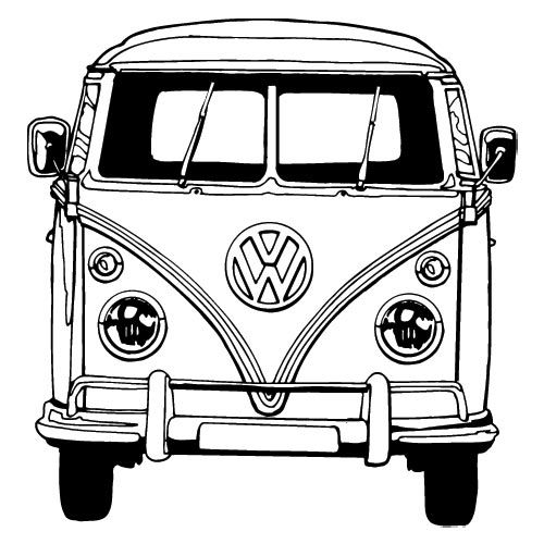 Line Drawing Vw Beetle : Vw bus tekening google zoeken transzfer minták