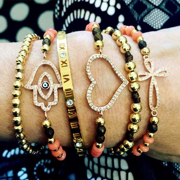 Set By Vila Veloni Coral Vintage Bracelets