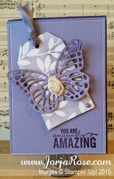 """By Kathe Oldham for """"The JorjaRose Files"""", featuring Stampin' Up! stamp sets """"Butterfly Basics"""" and """"Painted Petals"""" + """"Butterflies"""" Framelits ..."""