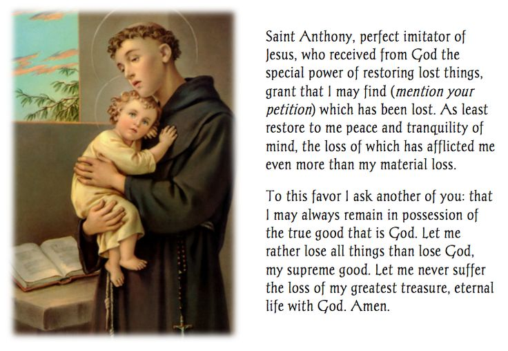 Prayer to St. Anthony for a Missing Item