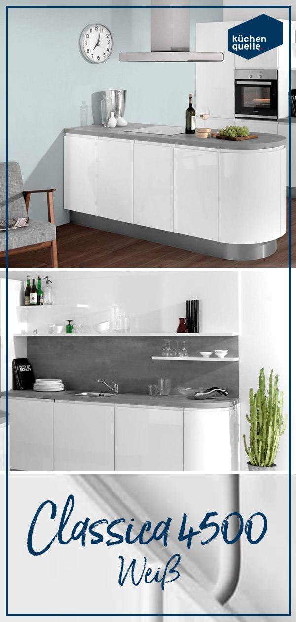 Fur Dein Modern Eingerichtetes Zuhause Genau Richtig Die Einbaukuche Classica 4500 Weiss Einbaukuche Kuche Quelle Kuchen Mobel