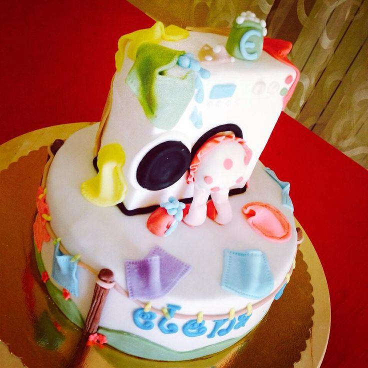 Fondant Cake Design Rosemount Aberdeen : Washing machine cake 3 Le mie torte _ Lauraturta ...