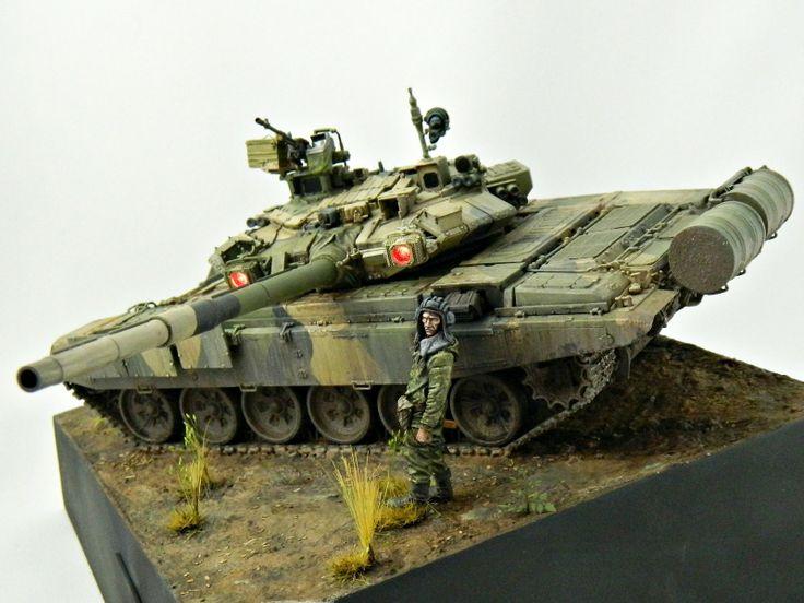 T-90A tank | #Scale_model 1/35 #diorama