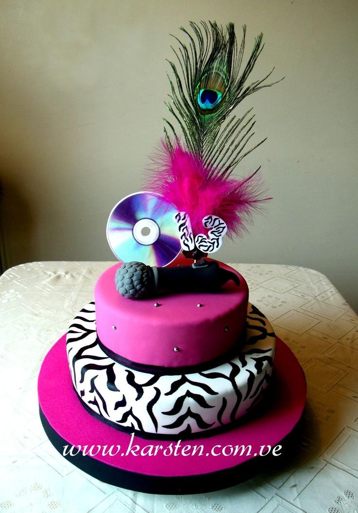 Torta musical animal print pasteles pinterest animal for Decoracion de cumpleanos adultos
