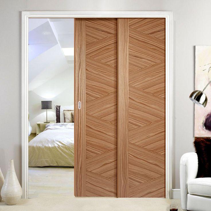 Twin Telescopic Pocket Zeus Walnut Veneer Doors - Prefinished.      #pocketdoor  #interiordesign  #oakdoor  #telescopicdoors