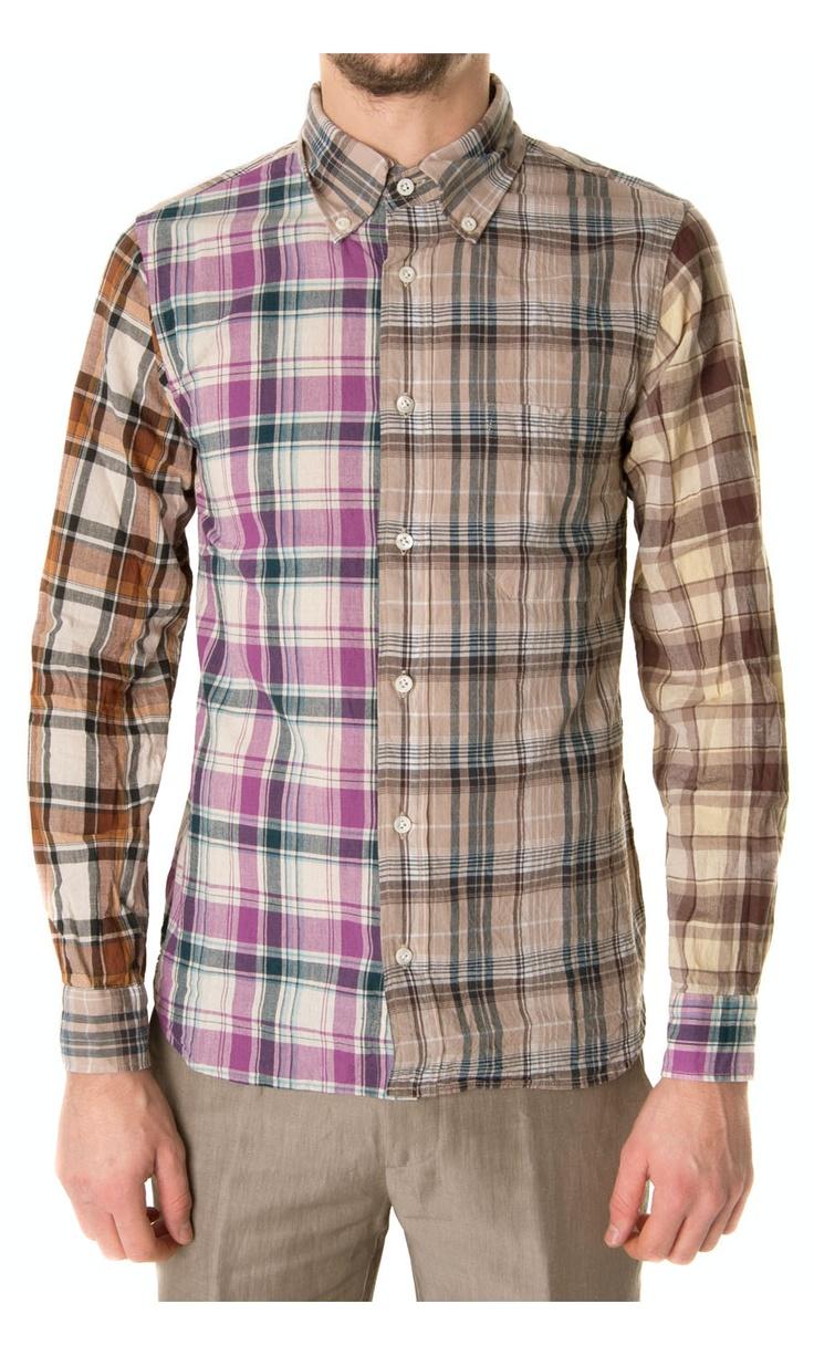 TS(S) muticolour check printed shirt - #ss13 #menswear  www.sansovinomoda.it