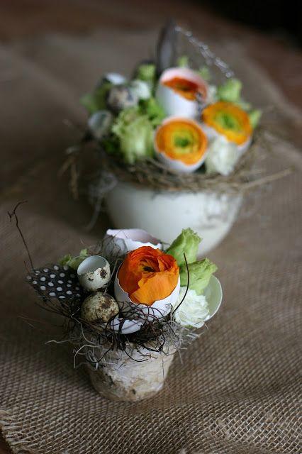 Flowers of Soul: Mini aranjament floral pentru Paste