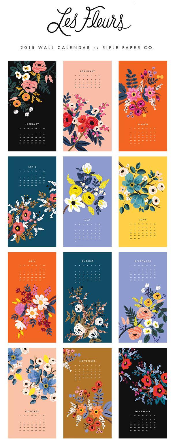 Les Fleurs calendar by Rifle Paper Co
