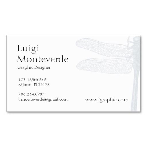 195 best images about dragonfly business cards on for Dragonfly business cards