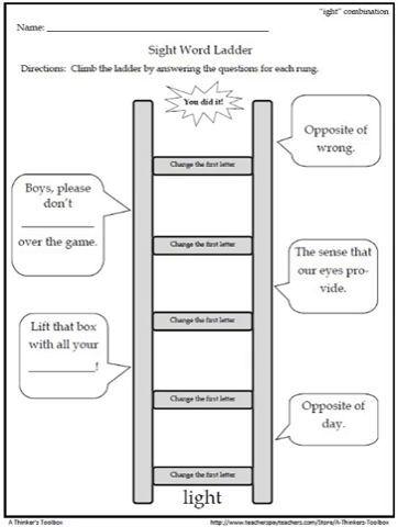 Sight Word Ladders Gr 2
