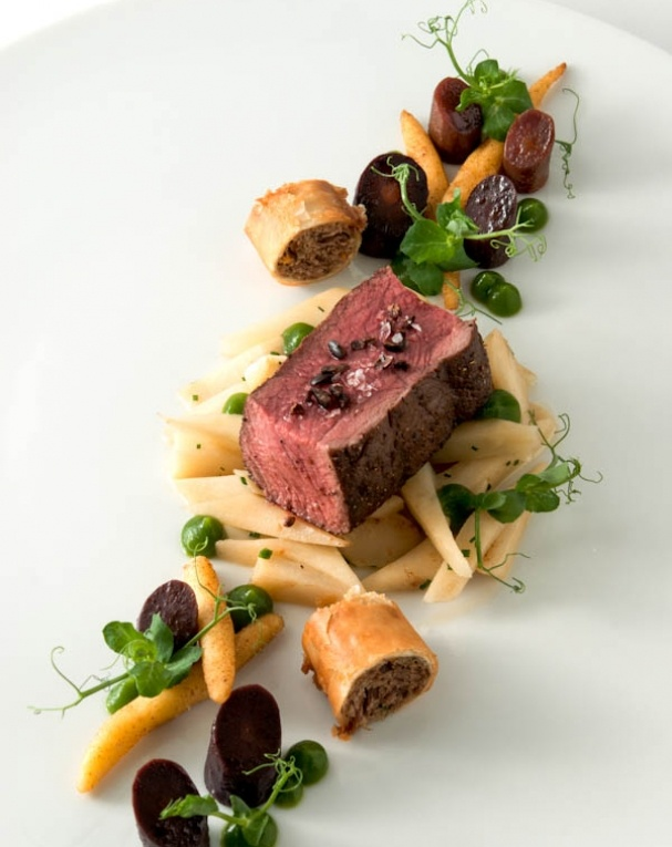 `Deer and parsley root - however I see a great presentation for a fillet of beef