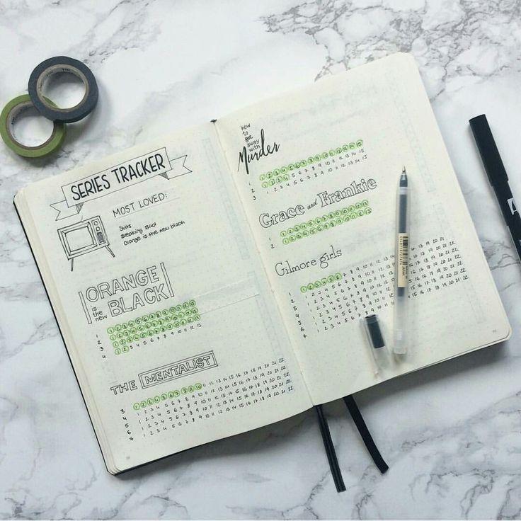 Bullet Journal Series Tracker