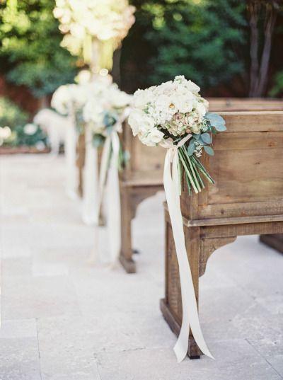 Flower aisle decor: http://www.stylemepretty.com/2014/05/27/romantic-houston-backyard-wedding/   Photography: Taylor Lord - http://www.taylorlordphotography.com/