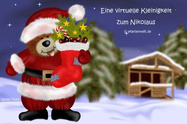 Virtuelle Weihnachtskarten.Eine Virtuelle Kleinigkeit Zum Nikolaus Animierte Nikolauskarte Mit