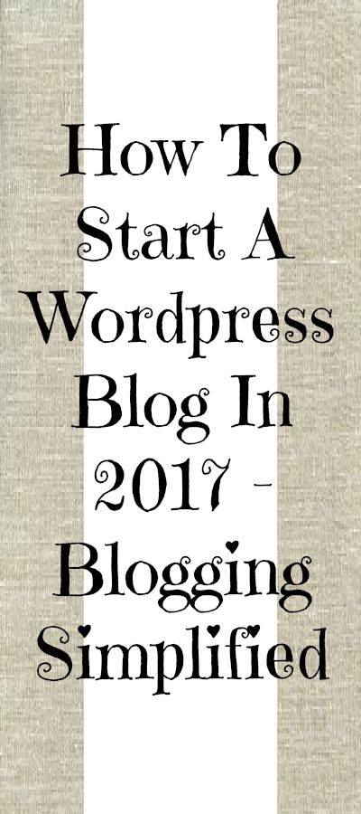 How to start a Wordpress blog in 2017? Based on research and experience, I have narrowed it down to seven subheadings:  1. Finding your blog niche  2. Choosing a domain  3. Choosing a web hosting plan  4. Installing WordPress  5. Choosing and customizing your WordPress theme  6. Choosing the right plugins  7. Publishing your first post  Read the full article on how to start a Wordpress blog using the link provided. Thanks!