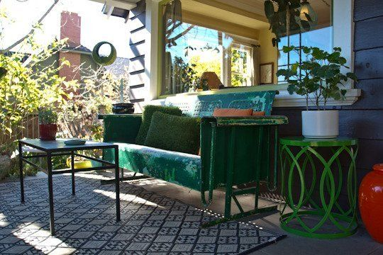 100 Year Old Hollywood Craftsman Home- I'm in love with everything! on this porch.