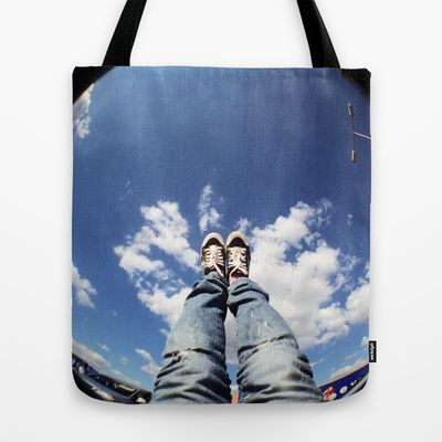 Worse than head in the clouds Tote Bag by Ina Ionescu - $22.00