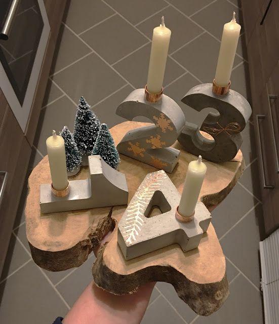 kreativ gl cklich diy beton kupfer adventskranz. Black Bedroom Furniture Sets. Home Design Ideas