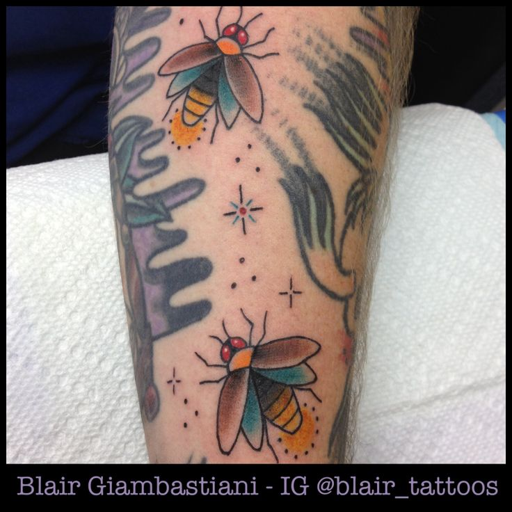 Firefly filler. #blairtattoos #ladytattooer #simmsinknapa #napavalley…