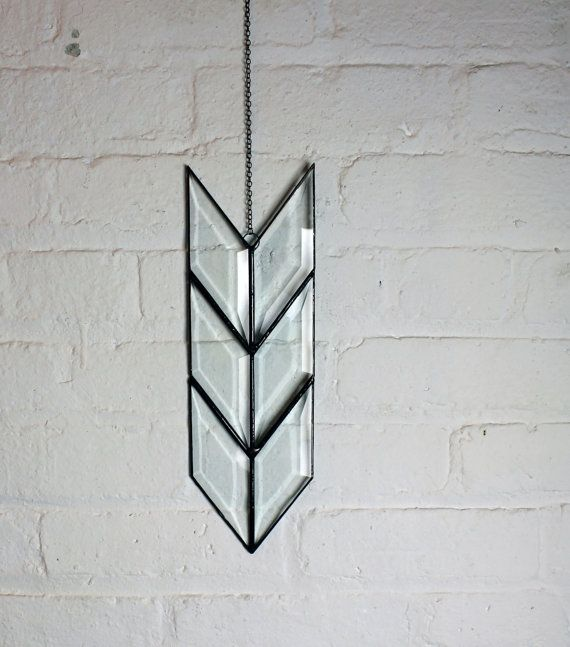 Stretched Simple Arrow Tail by HalonaGlass on Etsy, $55.00