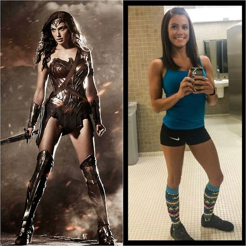 thebanegrimm:  Left is the new Wonder Woman. Being deemed still too skinny and frail.  Right is Kacy Catanzaro, the first female to advance to the finals of American Ninja. Considered strong and inspiring to female athletes.  Stop assuming someone is weak based off your closed minded ignorant ideals.