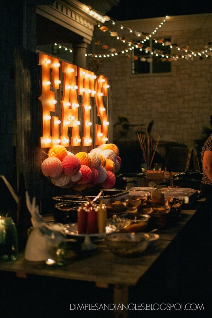 Wedding photo ideas, wedding full of DIY projects... marquee letters, rustic tables, & fall carnival games!