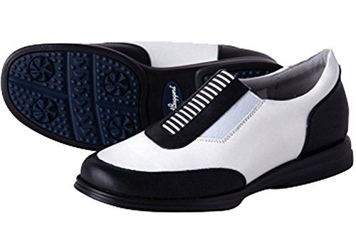 Womens Golf Shoes Fashion | SandBagger Allison BlackWhite Womens Golf Shoe 10 -- Want to know more, click on the image. Note:It is Affiliate Link to Amazon.