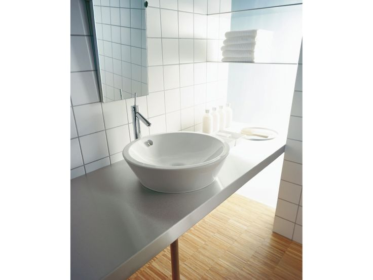 Countertop ceramic washbasin Starck 1 Collection by DURAVIT Italia | design Philippe Starck