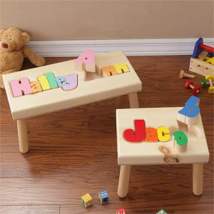 Wooden Name Puzzle Stool Gift Ideas Pinterest Kid