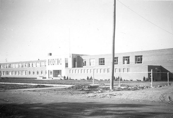 Construction of Whitby District High School, 1954
