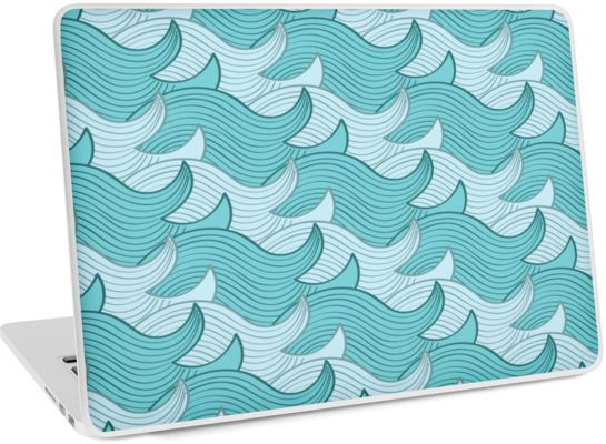 California Surf Wave Pattern Illustration by Gordon White | Heather Grey California Surf PC Laptop 13 Skin Available @redbubble --------------------------- #redbubble #stickers #california #losangeles #la #surf #wave #cute #adorable #pattern #laptop #skin #laptopskin #macbook