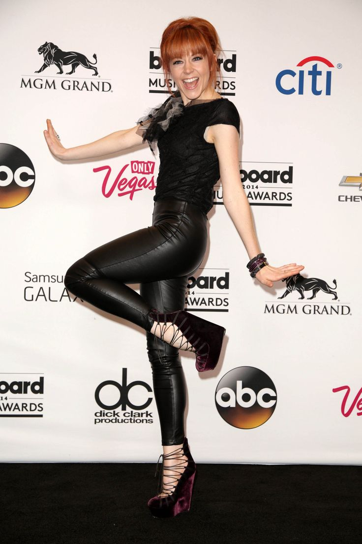 Lindsey Stirling In Rachel Cassar Top And John Galliano