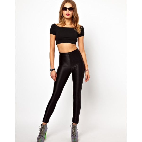 American Apparel Disco Pant (€46) ❤ liked on Polyvore featuring pants, bottoms, outfits, black, jeans, asos pants, black trousers, asos trousers, disco pants and black pants