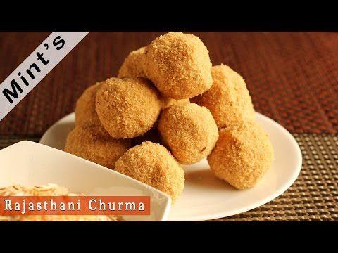 Rajasthani Churma Ladoo Recipe - चूरमा लड्डू