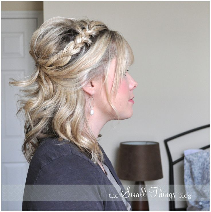 The Small Things Blog: Half French Braid Half Up: Hair Ideas, Small Things Blog, Hairstyles, Bridesmaid Hair, Half French Braids, Braids Half Up, Halfup, Hair Style, Braid Half Up