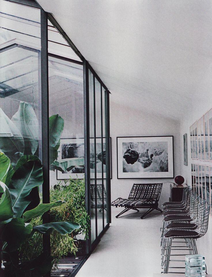 Indoor gardenModern Gardens, Dreams Home, Offices Design, Gardens Design Ideas, Work Spaces, Indoor Greenhouses, Interiors Design, Green House, Interiors Gardens